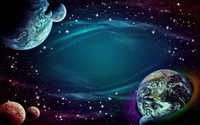 Обои звезды, космос, планеты