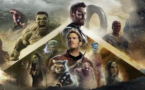 Картинка фильм, персонажи, 2018, афиша, Avengers: Infinity War