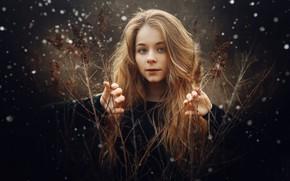 Картинка девочка, боке, Sergey Piltnik