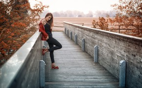 Картинка девушка, мост, Natalia
