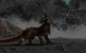 Картинка монстр, Fantasy, Warhammer, хаос, chaos, хаоситы, шаггот, дракоогр, колек, солнцеед, suneater, dragon ogre, shaggoth