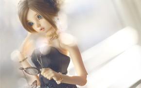 Картинка девушка, игрушка, кукла, прическа
