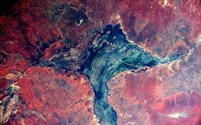Обои космос, абстракция, земля, текстура, Австралия, вид сверху