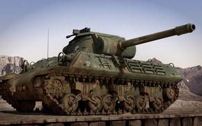 Картинка мост, оружие, танк, World War 2, M36 Tank Destroyer