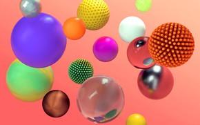 Картинка абстракция, краски, шар, сфера, объем