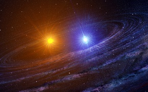Обои арт, звезды, космос, вселенная