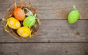 Картинка Пасха, wood, spring, Easter, eggs, decoration, Happy, tender