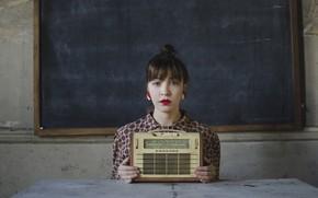 Картинка девушка, радио, Maria