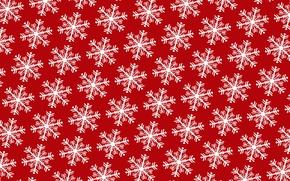 Обои зима, снежинки, праздник, Новый Год, узор