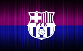 Картинка wallpaper, sport, logo, football, FC Barcelona