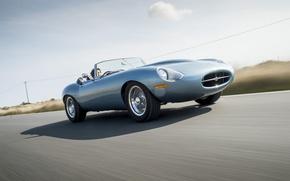 Картинка дорога, машина, скорость, Jaguar, Eagle, sportcar, Spyder, speed, британский, british, Road, E-TYPE