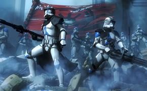 Картинка солдаты, star wars, броня, знамя, stormtrooper