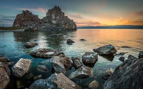 Картинка вода, свет, камни, скалы
