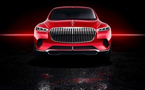 Картинка Mercedes-Benz, Vision, вид спереди, 2018, Mercedes-Maybach, электрокроссовер, Ultimate Luxury