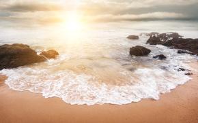 Картинка море, свет, побережье