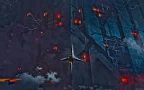 Картинка огни, дым, сооружение, разряд, beep beep