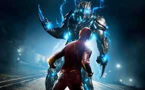 Обои mecha, hero, DC Comics, Flash, yuusha, tv series, The Flash, Grant Gustin, Barry Allen, CW, ...