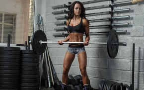 Картинка woman, workout, fitness, Gym, weight training