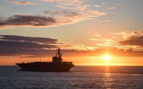 Картинка оружие, флот, USS George H. W. Bush, Nimitz-class aircraft carrier, CVN 77