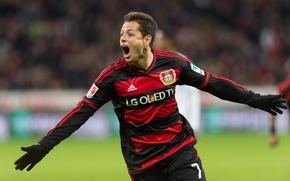 Картинка Mexican, Player, Javier Hernandez, Chicharito, Number, Bayer Leverkusen