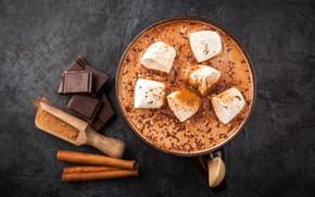 Картинка шоколад, чашка, hot, cup, какао, drink, зефир, chocalate, marshmallow