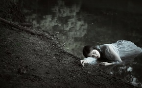 Картинка девушка, река, Sylwia Mastalerz