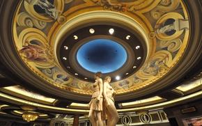 Обои Лас-Вегас, США, скульптура, отель, казино, Caesars Palace