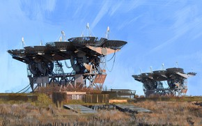 Картинка сооружение, телескоп, площадка, Pluton-M Complex, radiotelescope