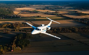 Обои небо, высота, полёт, самолёт, бизнес, джет