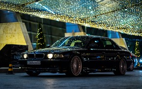 Картинка Almaty, City, BMW, Night, E38, Light, 740Li, Kazakhstan, Alpina