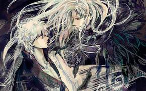 Картинка волосы, аниме, арт, парни, Gintama, Гинтоки