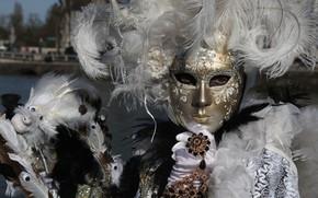 Картинка перья, маска, Венеция, карнавал