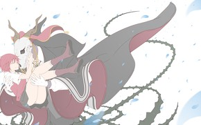 Обои аниме, девушка, The Ancient Magus' Bride, арт, череп, Mahou Tsukai no Yome, Невеста чародея
