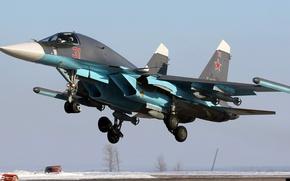 Картинка Fullback, Су-34, ОКБ Сухого, российский многофункциональный истребитель-бомбард