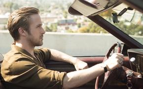 Картинка движение, автомобиль, Ryan Gosling, Райан Гослинг, мюзикл, Ла-Ла Ленд, La La Land