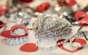 Картинка камни, сердце, кулон, украшение