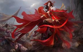 Картинка девушка, игра, fantasy, art, локация, China Fantasy Battle, Great but Cheap Fantasy Battle