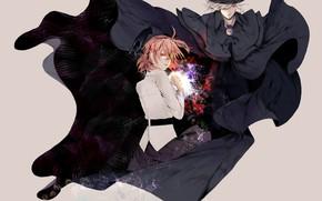 Картинка девушка, шляпа, аниме, арт, парень, плащ, персонажи, слуга, Fate / Grand Order