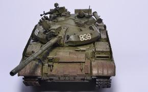 Обои T55, танк, моделька, игрушка