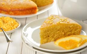 Картинка апельсин, пирог, выпечка