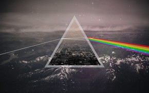 Обои Музыка, Фон, Треугольник, Pink Floyd, Рок, Тёмная сторона Луны, Пинк Флойд, The Dark Side of ...