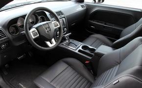 Картинка руль, Dodge, Challenger, салон, сиденье, Rallye Redline