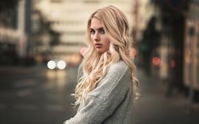 Картинка Девушка, Взгляд, Блондинка, Martin Kühn, Jellina