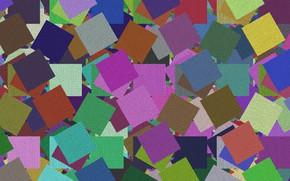 Обои Tekstura, Prostokąty, Kolorowe, kwadraty