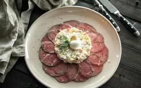 Картинка яйцо, мясо, Салат