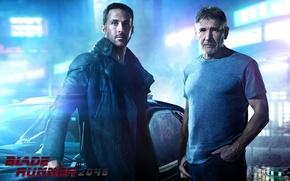 Обои фантастика, Harrison Ford, Харрисон Форд, Ryan Gosling, Райан Гослинг, Бегущий по лезвию 2049, Blade Runner ...