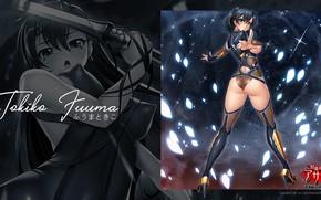 Картинка hot, ass, blue eyes, tits, taimanin asagi, tokiko fuuma, back hair