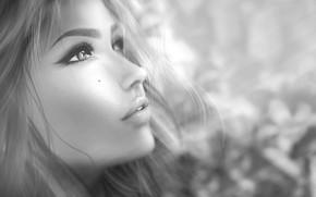 Картинка лицо, волосы, профиль, милашка