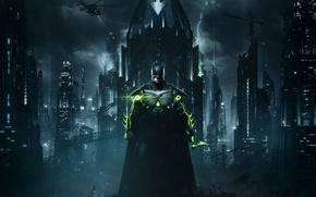 Картинка Batman, man, bat, hero, mask, suit, DC Comics, Bruce Wayne, strong, Injustice, yuusha, Injustice 2, …