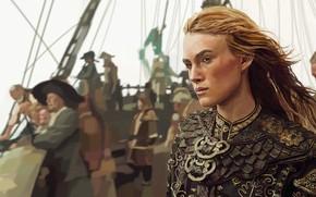 Картинка Пираты, Кира Найтли, Пираты Карибского Моря:На краю света, Элизабет Суонн/Тёрнер